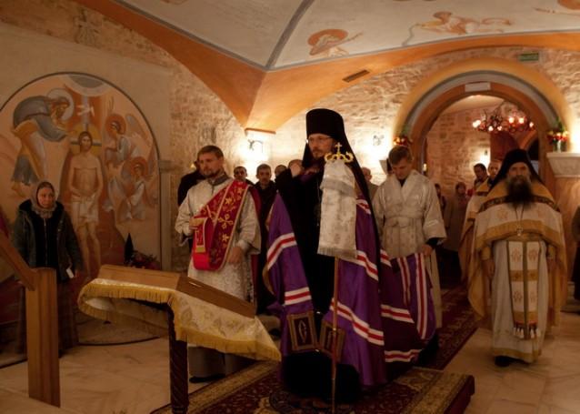 Освящение храма в честь Царственных Страстотерпцев